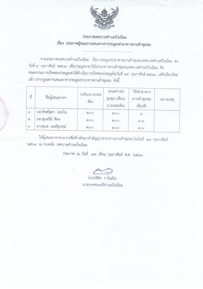 ประกาศประมูลลานค้าชุมชน19022563